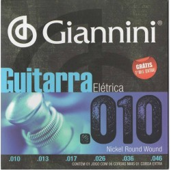 Encordoamento de Guitarra Giannini 010