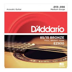 ENC DADDARIO MEDIUM GAUGE 85/15 BRONZE