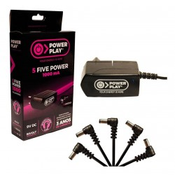 Fonte Para Pedal 5 Pedais Power Play Five Power 9v 1000ma