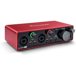 PLACA INTERFACE DE AUDIO FOCUSRITE 2I2 3GERACAO